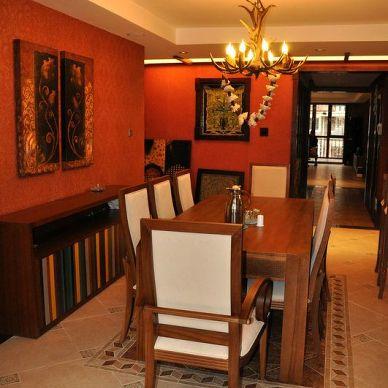 东南亚风格打造186平米异域风格之家_837916