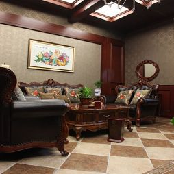 欧式客厅十字绣图案