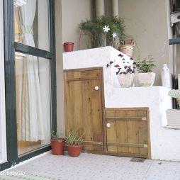 田园阳台柜子装修效果图