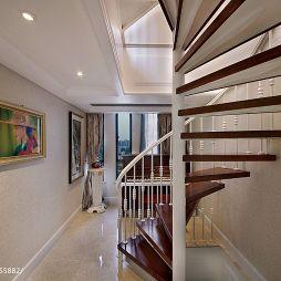 欧式旋转楼梯踏步设计效果图片