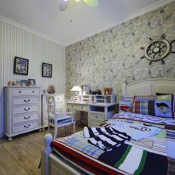 地中海儿童卧室样板房效果图