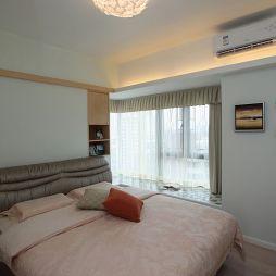 80平米现代风格不吊顶灯卧室设计装修效果图