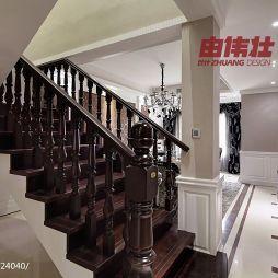 180㎡新古典风实木楼梯装修效果图