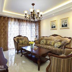 现代美式客厅吊灯效果图