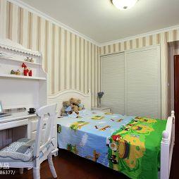 现代美式儿童卧室门效果图