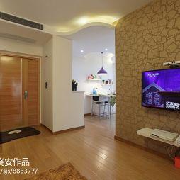 家装现代简约客厅背景墙装修效果图大全