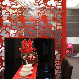 现代风格两室一厅婚房餐厅图片