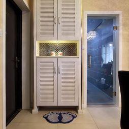 现代风格两室一厅玄关鞋柜装修图