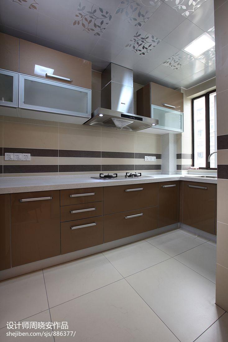 生活资讯_现代风格厨房厨柜装修效果图 – 设计本装修效果图