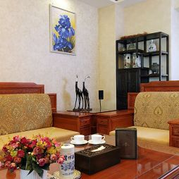 中式风格客厅背景墙设计图大全