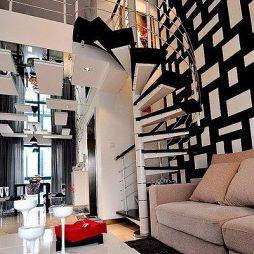 现代旋转钢架结构楼梯图片