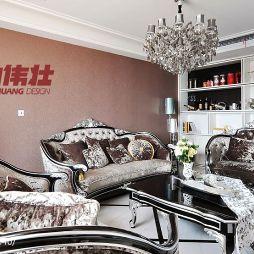 欧式现代风客厅沙发设计效果图