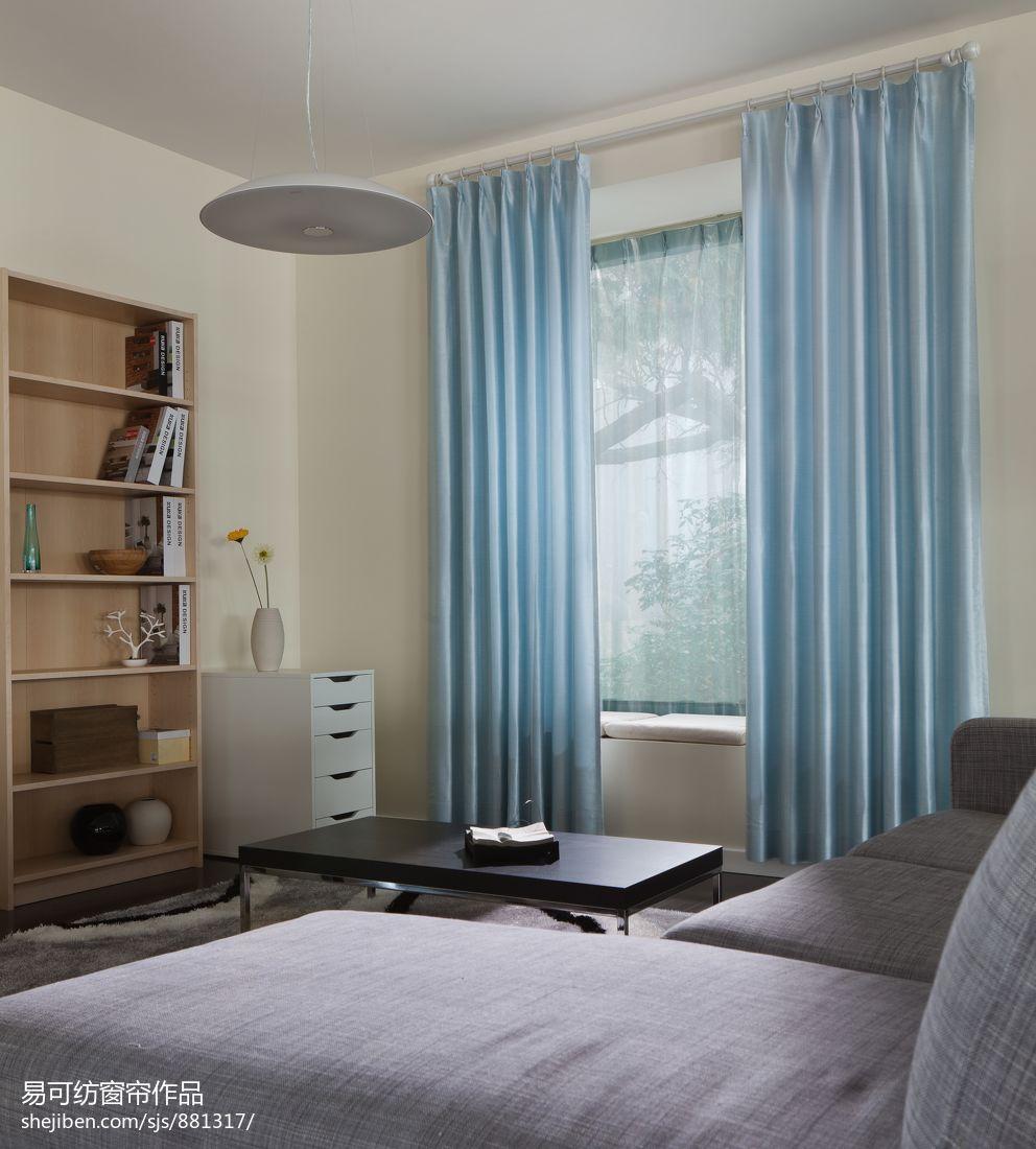 客厅窗帘装修图片_现代客厅窗帘效果图 – 设计本装修效果图