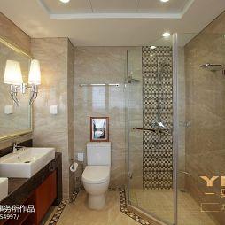 现代美式卫生间淋浴房效果图