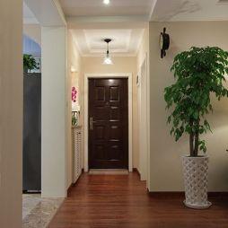 鼎盛花园现代美式风进门玄关过道吊顶设计效果图