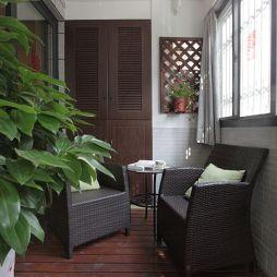 现代美式阳台阳台装修图片