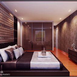 现代风格卧室背景墙装修效果图案例