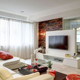 欧式风客厅电视墙效果图