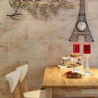 埃菲尔之恋欧式餐厅背景墙效果图展示