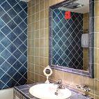 现代风格 卫生间洗手台效果图