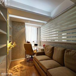 現代小書房帶休閑沙發裝修效果圖
