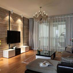 现代客厅墙面贴砖效果图