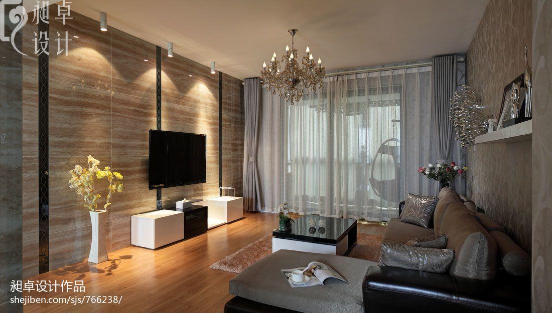 砖房图片_现代客厅墙面贴砖效果图 – 设计本装修效果图