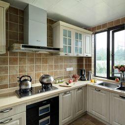 田园厨房地板砖装修设计效果图