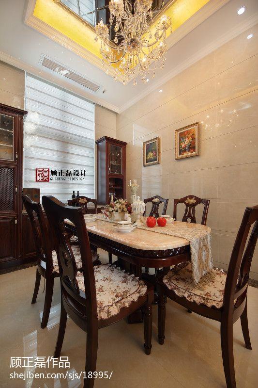 欧式新古典风格家具_欧式餐厅酒柜背景墙效果图 – 设计本装修效果图