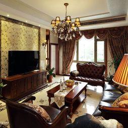 欧式古典客厅电视墙效果图