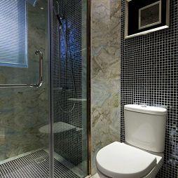卫生间瓷玻璃隔断墙效果图