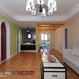 混搭风格家装客厅背景墙装修效果图