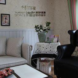 混搭风格家装客厅背景墙效果图
