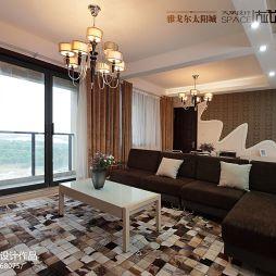 雅戈尔太阳城现代风客厅吊灯效果图