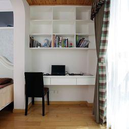 现代家装主卧室小阳台改书房装修效果图