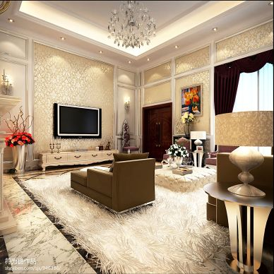 欧式客厅空间装修设计图