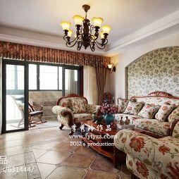 美式风格 客厅吊灯效果图