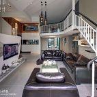 现代风复式客厅装修效果图