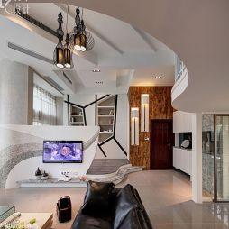 现代风格客厅吊灯效果图片
