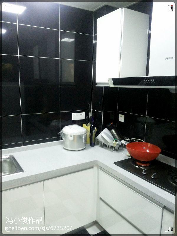 海尚壹品精致单身公寓现代厨房瓷砖装修