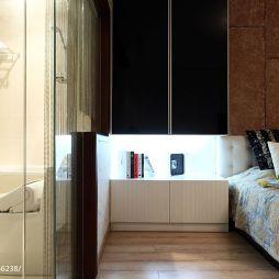现代卧室玻璃隔断设计效果图