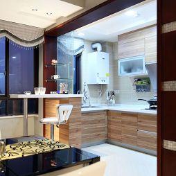 现代厨房开合式移门装修效果图