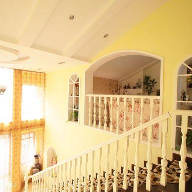 家装田园楼梯装修图片