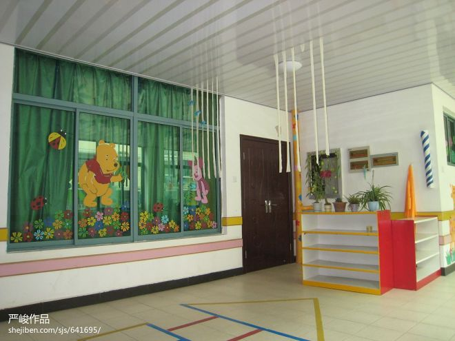 贝贝乐幼儿园走廊装修效果图