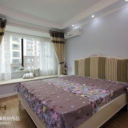 美式小清新卧室窗帘装修效果图