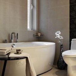 现代卫生间浴池装修效果图