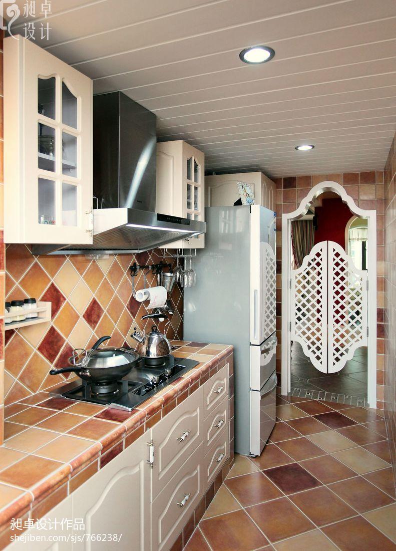 地中海风格儿童卧室_现代风格小厨房门装修效果图 – 设计本装修效果图