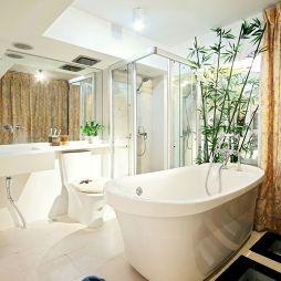 原生态风格卫生间浴池效果图