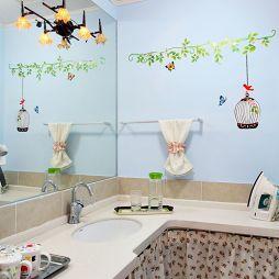 混搭风洗手间卫浴镜效果图