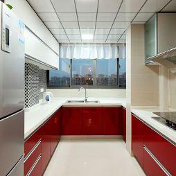 现代家庭厨房装修效果图